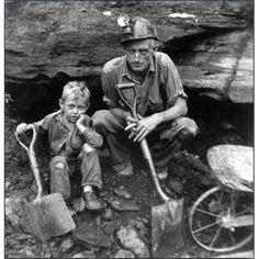 Coal mining vintage photo
