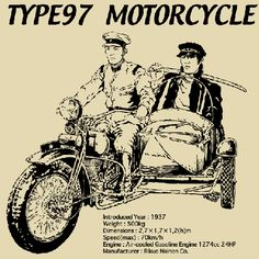 The Type 97 motorcycle, or Rikuo