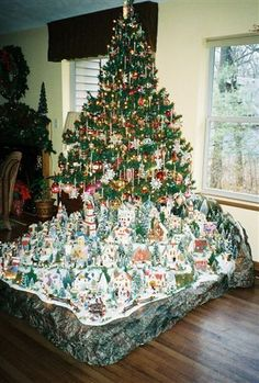 Christmas village houses putz display