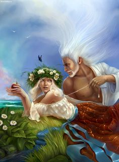 Top 20 most powerfull Greek mythology characters Most Greeks considered Uranus to be the primordial entity,who was the sky itself and the. Greek And Roman Mythology, Greek Gods, Gaia, Greek Titans, Mythology Books, Pagan Gods, Love The Earth, Couple, Gods And Goddesses