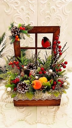 Christmas Flower Arrangements, Holiday Centerpieces, Christmas Flowers, Christmas Wreaths, Christmas Crafts, Outside Christmas Decorations, Beautiful Christmas Decorations, Christmas Lanterns, Rustic Christmas