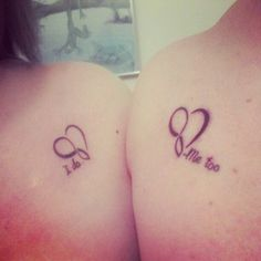"""I do"" & ""Me too"" couples tattoos."