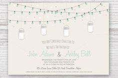 Wedding Invitation Card with Jars by Pixejoo on Creative Market