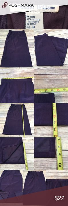 🌂Sz Medium David Hollis Purple Full Length Skirt Measurements are in photos. Normal wash wear, no flaws. A3  I do not comment to my buyers after purchases, do to their privacy. If you would like any reassurance after your purchase that I did receive your order, please feel free to comment on the listing and I will promptly respond. I ship everyday and I always package safely. Thanks! David Hollis Skirts A-Line or Full