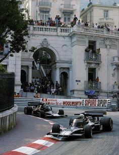 Monaco GP, 1976.  Tom Pryce & Jean-Pierre Jarier.