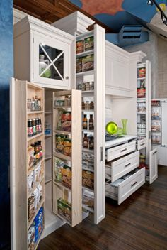 Love this pantry too - small sections means less time searching for stuff