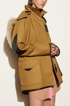 Luxe leather detailing makes this one of our favorites.Coach Classic Parka, $995, available at Coach.  #refinery29 http://www.refinery29.com/trendy-womens-parkas#slide-14