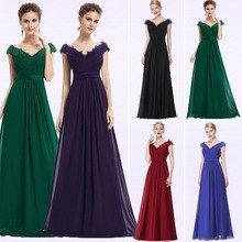 Wedding Party Gowns Plus Size Ladies Evening Dresses 2018 Women's Long Elegant V-neck Sleeveless A-line Chiffon Evening Gowns(China) Evening Dresses Plus Size, Cheap Evening Dresses, Women's Evening Dresses, Casual Summer Dresses, Prom Dresses, Bride Dresses, Party Gowns, Wedding Party Dresses, Dress Party