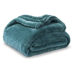 Threshold™ Fuzzy Throw: comfy teal throw for slipper chair!