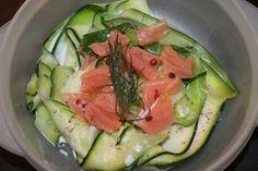 tagliatelle de courgette au saumon