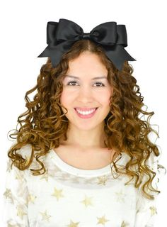 Alice in Wonderland Big Satin Ribbon Hair Bow Headband Black Ribbon Headbands, Ribbon Hair Bows, Headband Hairstyles, Cute Hairstyles, Black Headband, Boutique Bows, Girls Bows, About Hair, How To Make Bows