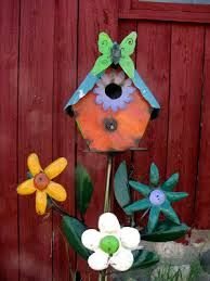 Image result for colorful birdhouses