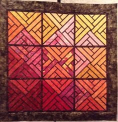 Fractured Paintbox, Quiltworx.com, Made by CI Josephine Keasler.