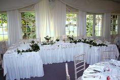 Gregg & Fiona's Rathsallagh House Wedding Function Room, Greggs, Wedding Venues, Sky, Table Decorations, Elegant, Christmas, House, Home Decor
