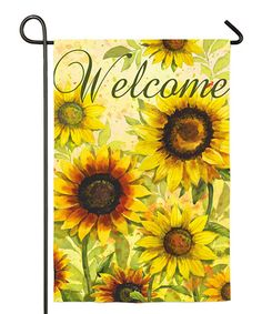 Love this Sunflowers 'Welcome' Outdoor Flag by Evergreen on #zulily! #zulilyfinds