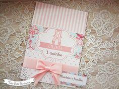 Convite Bailarina com Laço e tag