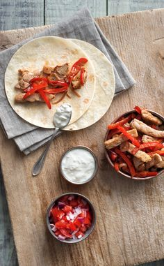 Pork Fajitas with Blistered Peppers and Sour Cream | HelloFresh Recipe