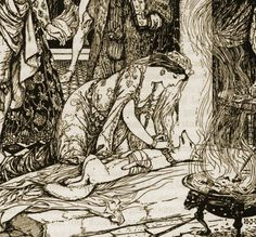 Victorian-era fairy tale illustration by Henry Justice Ford
