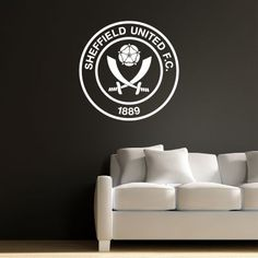 Official Licensed Football & Entertainment Wall Stickers - Sheffield United Bedroom Football Gifts - The Beautiful Game Football Bedroom, Football Wall, Football Stickers, Sheffield United Football, Sheffield United Fc, Sheffield United Wallpaper, Mural Wall, Wall Art, Bedroom Furniture