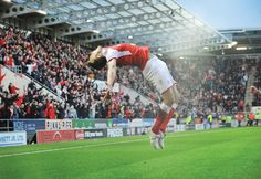 PsBattle: Will Vaulks goal celebration for Rotherham United Rotherham United, Pinterest Marketing, Social Media Marketing, Battle, Celebration, Soccer, Photoshop, The Unit, Goals