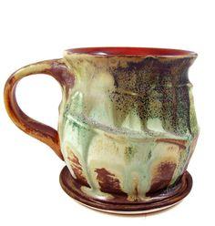 LARGE Ceramic Mug  Porcelain Cup  Handmade Pottery by PatsPottery