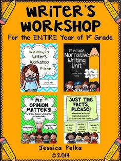 Here it is 1st grade teachers!  Everything you need to teach writing this year!  This HUGE bundle contains it all:  First 20 Days of Writer's Workshop, Personal Narrative Writing, Opinion and Persuasive Writing, and Informational Writing (All-About, All-About with Research, and How-To).  Step-by-step, detailed plans with all the information and materials you need on HOW to successfully use a writer's workshop approach!  $  #writersworkshop #minilessons #1stgradewriting