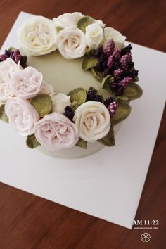 결혼 선물_깔끔하고 고급스러운 플라워케이크 AM1122 CAKE : 네이버 블로그