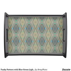 Funky Pattern with Blue Green Lights Photograph