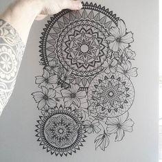 Mandala Zentangle Cutout Artwork