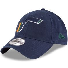 Utah Jazz New Era Official Team Color 9TWENTY Adjustable Hat - Navy