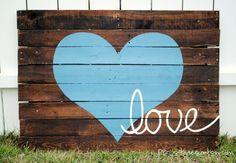 Reclaimed Wood Love Sign. $165.00, via Etsy.