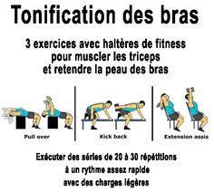 Éliminez définitivement la peau détendue sous vos bras ! Vos ailes de chauve-souris vont s'envoler en musclant les triceps Gym Bra, Brain Gym, Ashtanga Yoga, Muscles, Detox, Fitness Motivation, Workout, Memes, Plein Air