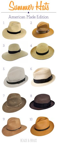 Summer Hats #madeinusa @Charlene Brown Gaines