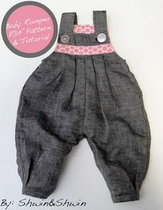 Gorgeous overalls/romper by shwin and shwin. They have some really sweet patterns for both boys and girls. Definitely will be making these.