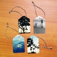 A great way to add a personal touch to your gift giving is with a custom photo hang tag!