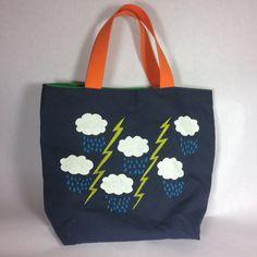 Handmade Screen Printed Tote Bag
