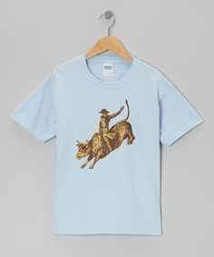 Take a look at this Blue Bull Rider Tee - Toddler & Kids on zulily today!