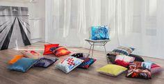 Nouveautés Madura : rideau, coussin, plaid - très jolies couleurs