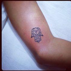 Small hamsa hand tattoo