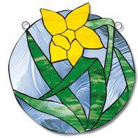Free Pattern, Daffodil Round Panel - Glass Crafters
