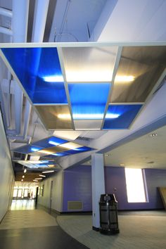 Sky Screen with Translucent panels. Very cool for flexible meeting areas.