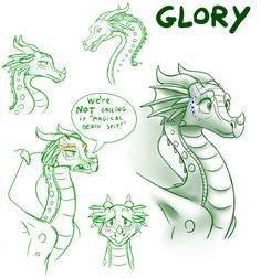 Sketches - Glory (WoF) by StarWarriors.deviantart.com on @DeviantArt