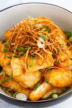 Ginger soy fish made with halibut fish, soy sauce, ginger and scallions is one of the best halibut recipes. Fish Dishes, Seafood Dishes, Fish And Seafood, Seafood Recipes, Cooking Recipes, Healthy Recipes, Steak Recipes, Delicious Recipes, Best Halibut Recipes
