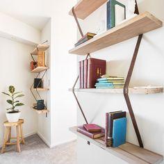 'Tangle'   Messmate Timber & Leather Shelving