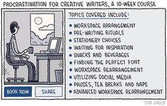 Curso de 10 semanas: 'Procrastination' para escritores :-) pic.twitter.com/xLQ9sbuWAm