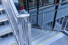 Egress stair - Monkeytoe Wood Stair Treads, Concrete Stairs, Wood Stairs, Email Sites, Aluminum Handrail, Melbourne Au, Platform Deck, Roof Beam, Fabric Structure