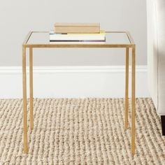 Safavieh Treasures Kiley Gold/ Mirror Top Accent Table | Overstock.com Shopping - The Best Deals on Coffee, Sofa & End Tables