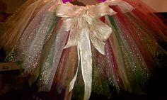 Christmas Princess TuTu with Sparkle Gold, Bronze, Red, Green, Fabulous. $55.00, via Etsy.