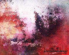 """""""Regarder au-delà"""" Peinture hybride découlant de la fusion numérique de plusieurs peintures en techniques mixtes. Février 2015. © 2015, Louise Lamirande. http://louiselamirande.com/regarder-au-dela-peinture-hybride-techniques-mixtes-et-numerique/  Digital painting created with my original mixed media paintings and pure digital effects. http://en.louiselamirande.com/project/regarder-au-dela-look-beyond/"""