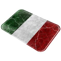 Distressed Vintage Italian Flag All Over Glass Cutting Board